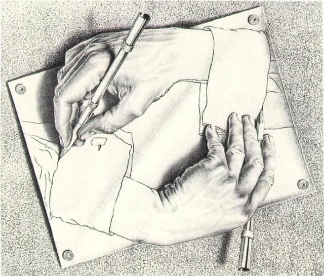 Hands by Escher