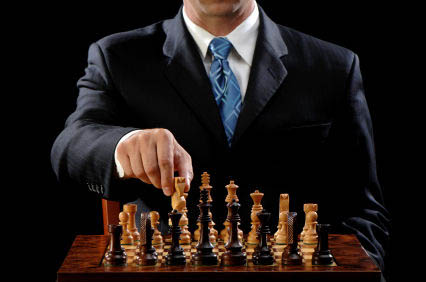 Suit Playing Chess